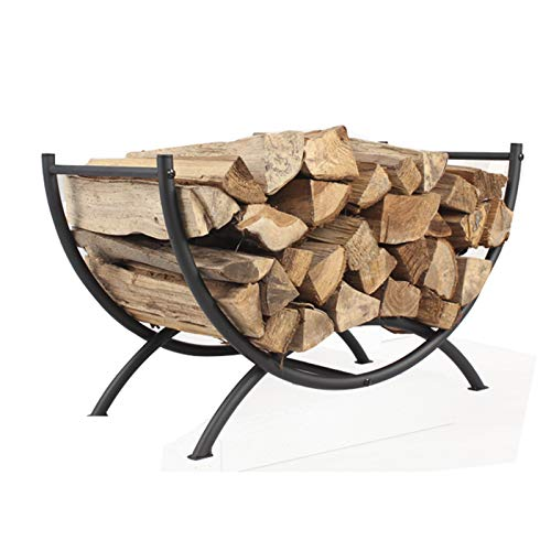 Outdoor firewood Racks, semi-Circular Log Racks for fireplaces, Heavy-Duty Wood Storage Racks for Metal Steel Pipe Log Baskets, Used for Home Fireplace Accessories