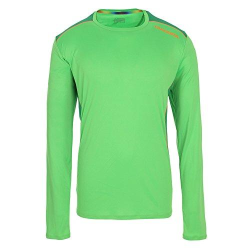 Camiseta running Diadora LS T Shirt Manga larga Verde Fluo XXL
