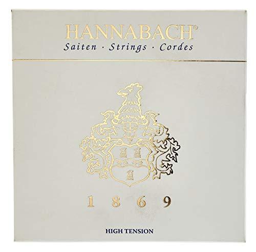 Hannabach 1869HT - Juego de cuerdas para guitarra clásica (fibra de carbono/oro)