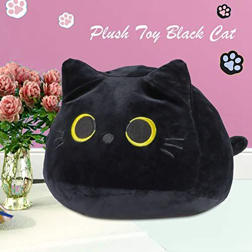 3D Black Cat Plush Toy Pillow, Cute Animal Cat-Shaped...