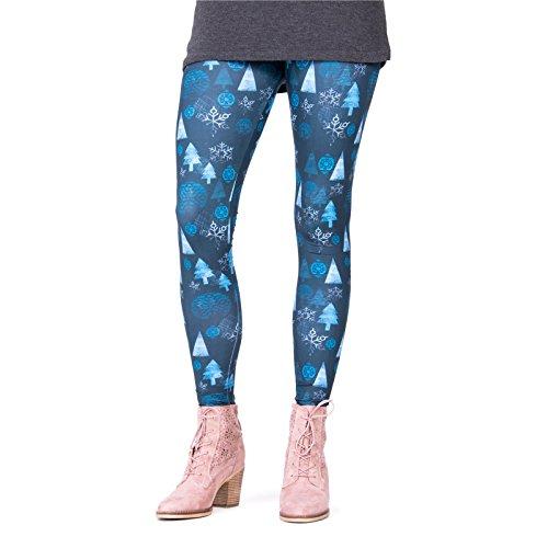 cosey - Bedruckte Bunte Leggins (Einheitsgröße) Verschiedene Leggings Designs, Winter Symbols, Einheitsgröße