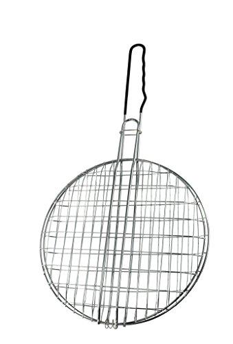 WDK Partner A9800055 - Rejilla Redonda Doble para Barbacoa (30 cm)
