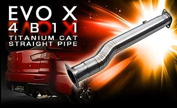 Tomei Ti Titanium Cat Straight Pipe for Mitsubishi EVO X 4B11 - TB6100-MT02A