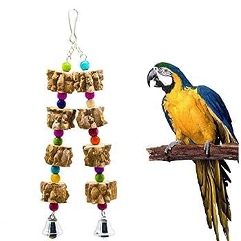 Jouets d'Oiseaux à Mâcher, Jouets à Mâcher de Perroquet d'Oiseau, Jouets à Mâcher en Bois de Cage de Perroquet, Jouets de Morsure de Cage de Perroquet, pour petits et Moyens Perroquets et Oiseaux