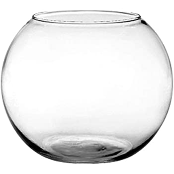 Floral Supply Online Rose Bowl - Glass Round Vase for Weddings, Events, Decorating, Arrangements, Flowers, Office, or Home Decor