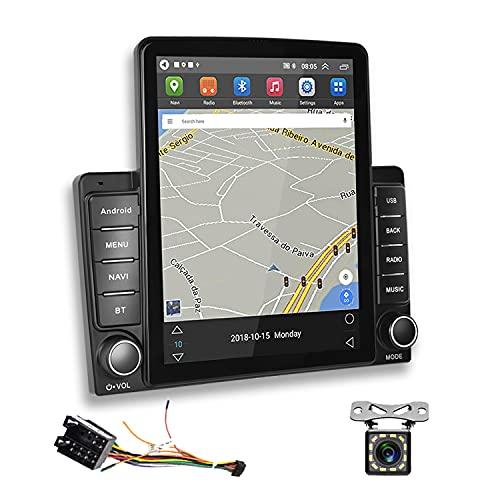 2 Din Autoradio Android GPS Podofo Touchscreen Verticale da 9,5 Pollici RDS FM Radio Bluetooth WIFI 3 USB Mirror Link Lettore Radio per Auto +Cavo Adattatore ISO +Telecamera Posteriore