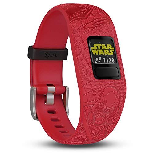 Garmin vívofit jr. 2 digitale, wasserdichte Action Watch im Star Wars – Die dunkle Seite Design für Kinder ab 4 Jahren, mit spannender Abenteuer-App, Schrittzähler, Batterielaufzeit bis zu 1 Jahr