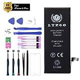 LTZGO Batterie de Haute Capacité Compatible pour iPhone 6 Plus 3250mAh avec Kits d'outil,Feuille en Verre trempé,Manuel de...
