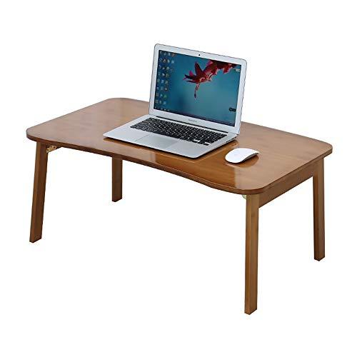 Table Haizhen Bureau d'ordinateur pliable en bois massif pour ordinateur portable, baie vitrée, petit paresseux, bureau d'étudiant (Dimensions : 80 x 50 x 34 cm)