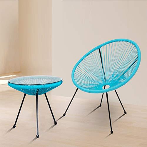 Conjuntos de muebles de porche del patio, 2 piezas de la mesa de ratán al aire libre y una combinación combinación de muebles de ratán Silla de ratán Balcón, patio, mesa de ocio al aire libre y silla