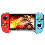 CZT New 5.1-inch Handheld Game Console Built-in 9100 Games Multiple simulators Game can be archived mp3/mp4 DV/DC E-Book Recorder Rechargeable Lithium Battery (Bluered)