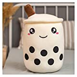 Youpin Süßes Boba-Milch-Tee-Plüschtier, weich gefüllt, Apfel- und Erdbeer-Geschmack, Milch,...