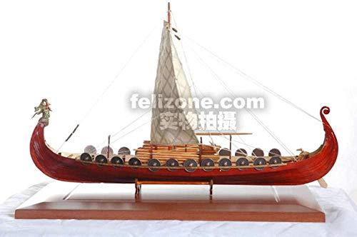 ZNYB Kits de construcción de Modelos de embarcaciones Modelo de Barco de Vela de Madera clásico Kit ensamblado Modelo de Viento Comercial Barco Pirata Vikingo Jacques DIY Toy