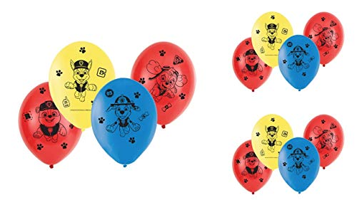 Patrulla Canina 0684 Pack 12 Globos Fiestas y cumpleaños. Ideal para Decorar Tus Fiestas.