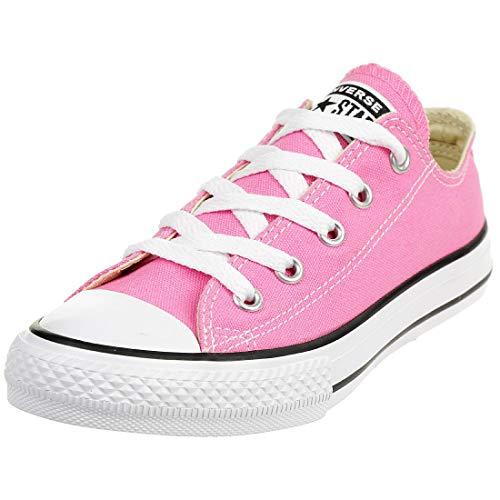 Converse unisex-child Chuck Taylor All Star Low Top Kids Sneaker, Pink, 2,Little Kid