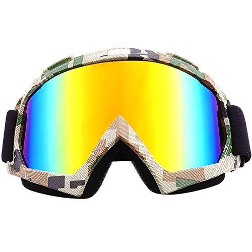 SPOSUNE Gafas de moto ATV Dirt Bike Off Road Racing MX gafas de ciclismo anti-arañazos a prueba de polvo flexible UV400 gafas acolchadas de espuma gruesa suave correa ajustable para adultos motocross