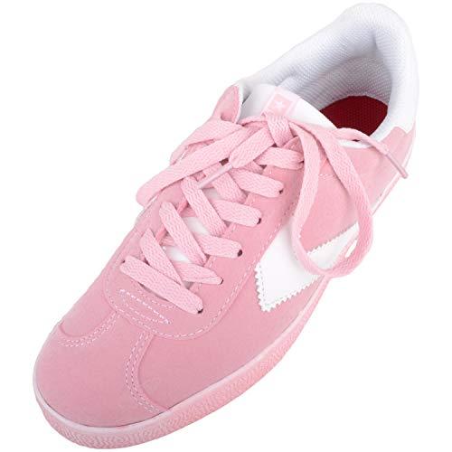 Zapatos de Verano para Mujer, Informales, con Cordones, Pastel