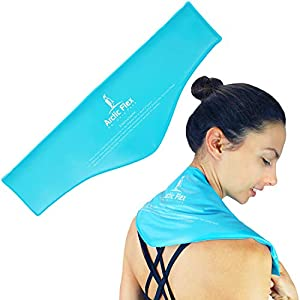 Arctic Flex Neck Ice Pack – Cold Compress Shoulder Therapy Wrap – Cool Reusable Medical Freezer Gel Pad for Swelling, Injuries, Headache, Cooler – Flexible Hot Microwaveable Heat – Men, Women
