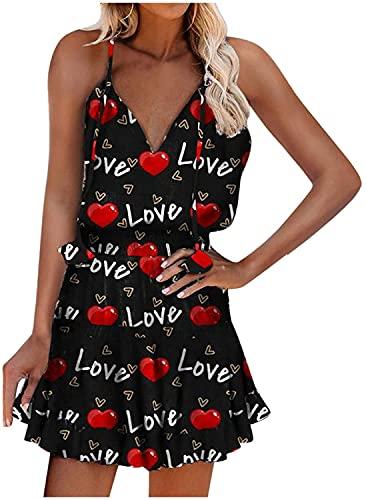 Vestido de mujer con correa de espagueti, estilo bohemio, maxi vestidos sin espalda con volantes, vestido de cuello halter floral mini vestido de columpio