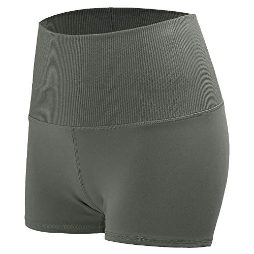 Tetera elastica Boyleg Body Shaper Slip Straps Fat Burning Shorts Cintura Alta para Correr Verde S