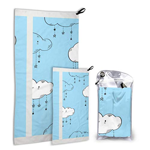 N\A Swing Animals Enjoy Play 2 Pack Microfiber Towel Set for Sports Swim Towel Set Drying Best Best for Gym Travel Backpacking Yoga Fitnes
