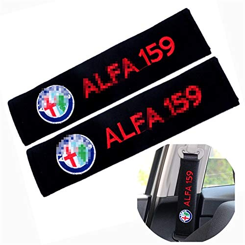 LZLWL Car Seat Belt Pads 2pcs Car Seat Belt Cover Auto Car Styling Pure Cotton Case For Alfa Romeo 159 147 156 Giulietta 147 159 Mito Safety Belt Shoulder Pad (Color : 3)