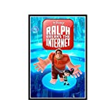 Yoopa Ralph Breaks The Internet Rich Moore & Phil Johnston Movie Art Wall Canvas Poster Print Sala de estar Decoración para el hogar -50X70 CM Sin marco 1 Uds