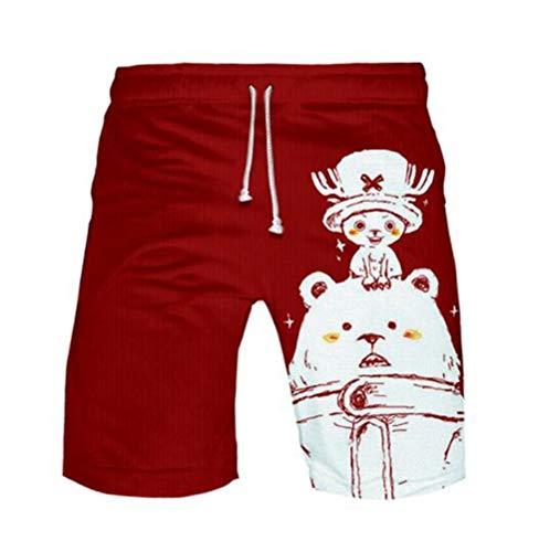 WANHONGYUE Anime One Piece Monkey D Luffy Herren Badehose Strand Shorts 3D Druck Sommer Beach Shorts Boardshorts Swim Trunks 1108/13 XXL