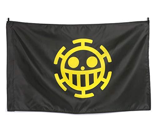 CoolChange Bandera de One P Avec Jolly Roger de la tripulación de los Piratas Heart, Amarillo