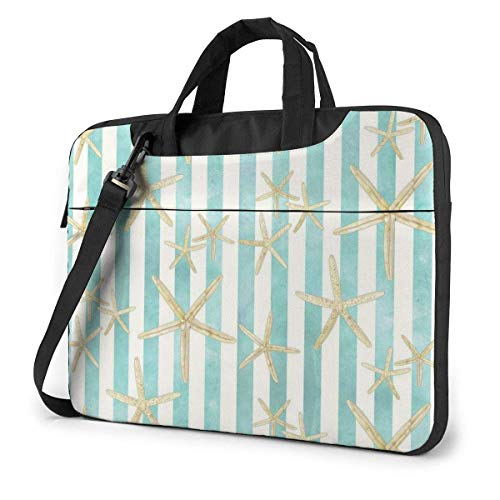 Laptop Umhängetasche 15,6 Zoll, Starfish Aquarellstreifen Aktentasche Schutzhülle für Ultrabook, MacBook, Sony, Notebook