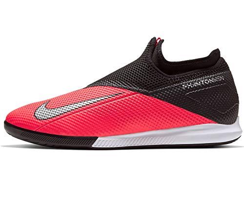 Nike Herren Phantom VSN 2 Academy DF IC Fußballschuhe, Schwarz (Laser Crimson/Metallic Silver-606), 43 EU