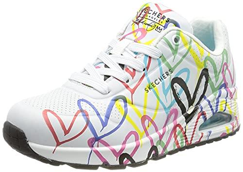 Skechers UNO Spread The Love, Zapatillas Mujer, White, 39 EU