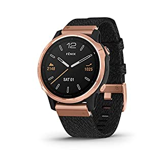 Garmin fenix 6S Sapphire, Premium Multisport GPS Watch, Smaller-Sized, Features Mapping, Music, Grade-Adjusted Pace Guidance and Pulse Ox Sensors, Rose Gold with Black Nylon Band (B07W3Q3QV2) | Amazon price tracker / tracking, Amazon price history charts, Amazon price watches, Amazon price drop alerts