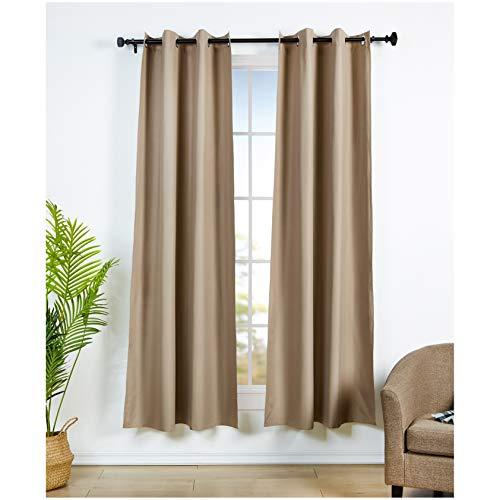 Amazon Basics - Juego de cortinas que no dejan pasar la luz, con ojales, 117 x 229 cm, Chocolate