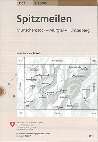 Swisstopo 1 : 25 000 Spitzmeilen