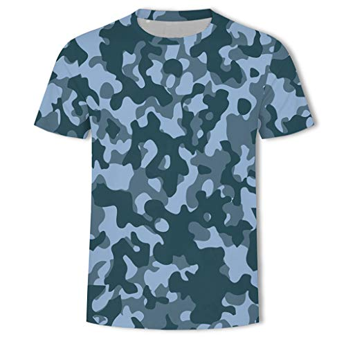 Great Deal! Mens Fashion Camouflage Printing Tees,Man Summer T Shirt Short Sleeve Pullover Sport Top...