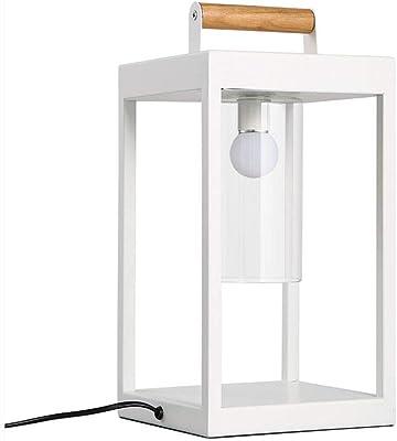 BBJOZ-電気スタンド 北欧の現代の鉄のテーブルランプリビングルームベッドルームベッドサイドのファッション・アートスクエアテーブルランプ(40.5 X 20センチ)