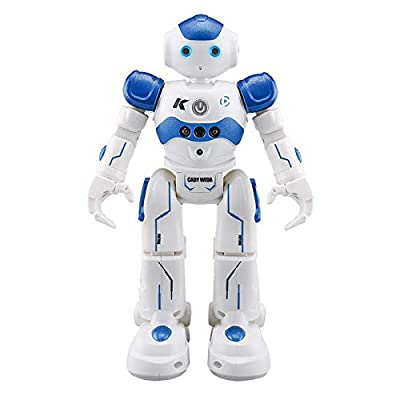 Smart Lawrence Robot Kids Learning Toys - Intelligent Programmable, Gesture Sensing, Dancing&Singing, Robot Kit for Boys Girls, Smart Infrared Remote Control Robotic Toy Gift (Blue)