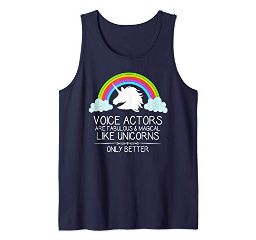 Voice Over Actor Gifts - Voiceover Artists are Like Unicorns Tank Top