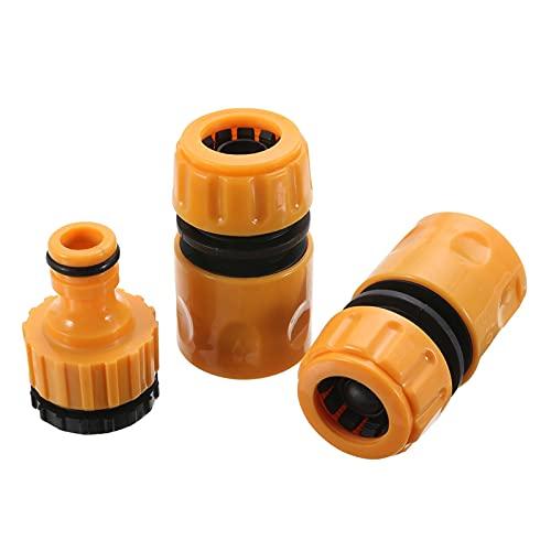 PPLAW 3 unids Quick Tap Agua Conector Adaptador Acoplamiento rápido Adaptador Drip Tape Garden Manguera de Agua Tubería de Agua Riego Herramientas de riego Conjunto