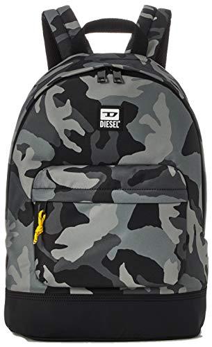 Diesel BULERO VIOLANO Backpack, Mochila Hombre, Piel de elefante, color negro, Talla única