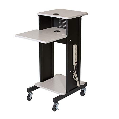 OEF Furnishings Presentation Cart and Stand, OEFPRC200, Steel Frame, Ivory Woodgrain