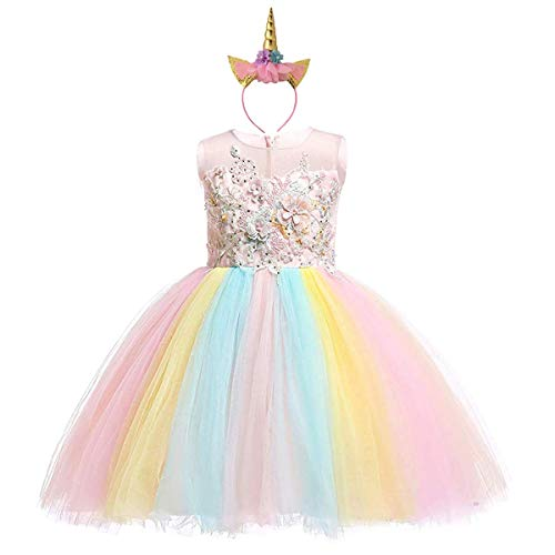 KARAZZO Girls Costume Princess Dress up Kids Birthday Party Carnival Cosplay Christmas Outfit with Accessories