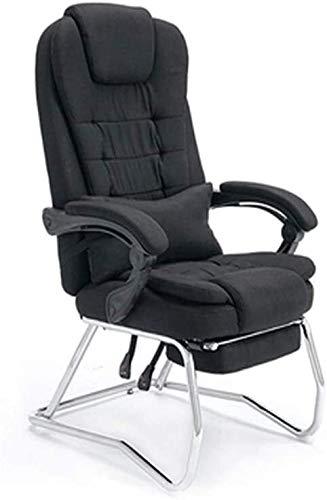 Rollsnownow Bürocomputer Stuhl High Back Computer Stuhl Ergonomischer Bürostuhl, PU-Leder Einstellbare Höhe Moderner Chefdreh Aufgaben-Stuhl mit gepolsterten Armlehnen und Lendenwirbelstütze Sessel