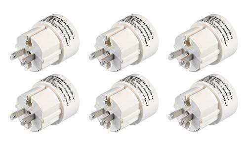 Mehrfach-Set: Hama Reisestecker USA Typ A (Adapter für Amerika, Japan, Kanada, Brasilien, Thailand, geeignet für Geräte mit Euro- oder Konturenstecker) (6er Set)