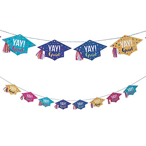 Oriental Trading 13944591 Congrats Girl Graduation Party Garland
