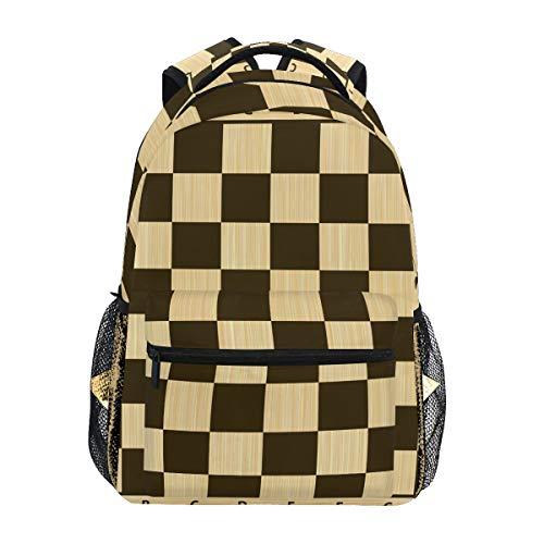 DXG1 - Mochila de Tablero de ajedrez para Mujer, Hombre, Adolescente y niño, Bolsa de Escuela, Bolsa de Libros, Suministros Casuales