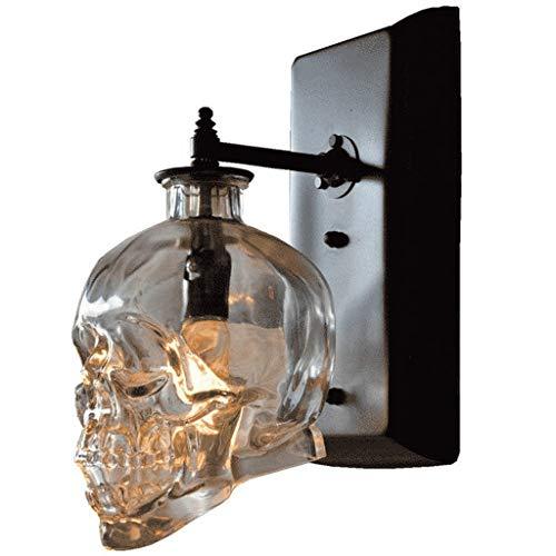 DYXYH Lámpara de pared, estilo luz de pared de cristal decorativos, tamaño 20 x 20 x 11 cm, color marrón