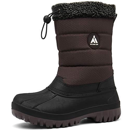 Mishansha Botas para Nieve Impermeables Mujer Botas Forradas de Piel Après Ski Zapatos Calentar Botas Inviernos Protección contra el Frío, Marrón 41