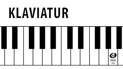 Klaviatur: Klaviertastatur von A'' (Kontra-Oktave) bis a'''' auf weißem Stabilkarton: Klaviertastatur von A'' (Kontra-Oktave) bis c'''' auf weißem Stabilkarton